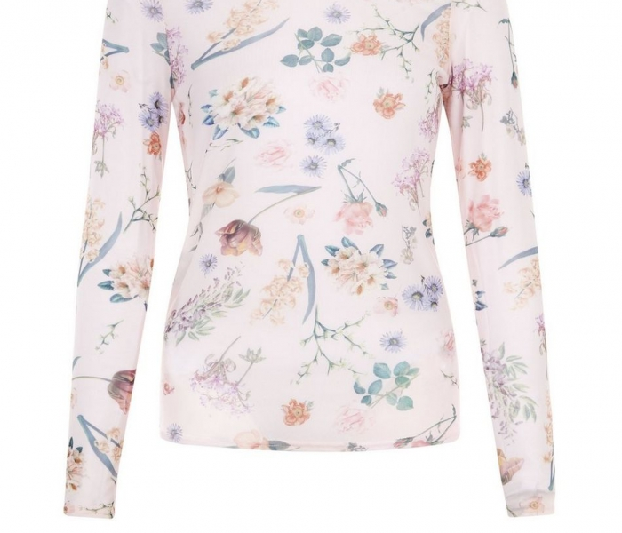 pink-floral-print-mesh-long-sleeve-top